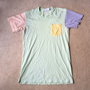 American Apparel Color Block T shirt